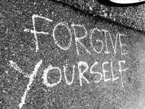 Learn to forgive yourself.